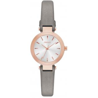 Montre DKNY Stanhope NY2408 - Montre Cuir Grise Femme