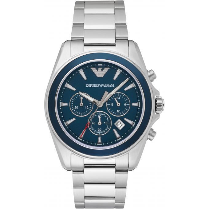 Montre emporio armani ar6091 montre bleue argent homme - Montre emporio armani homme pas cher ...