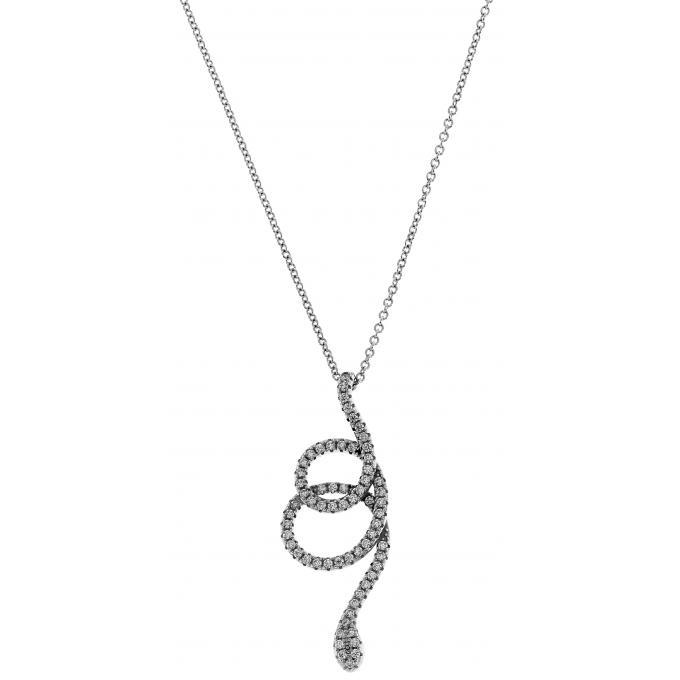 5eme Avenue - Collier et pendentif 5e Avenue Yin & Yang AVSA8863 - Collier et pendentif Serpent Enroulé Femme pas cher