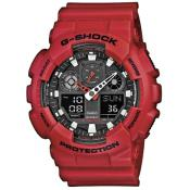 Montre Casio Chronographe Rouge GA-100B-4AER - Casio