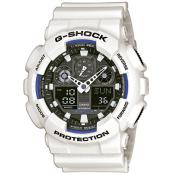 Montre Casio Chronographe Alarme Rouge GA-100B-7AER - Alarme