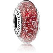 Charm Pandora Fleurs 791654 - Charm Murano Scintillant Rouge Femme