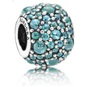 Charms Pandora Gouttelette Scintillante Bleu Turquoise 791755MCZ - Voyage