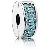 Charms Pandora Élégance Brillante Bleu turquoise 791817MCZ - Voyage