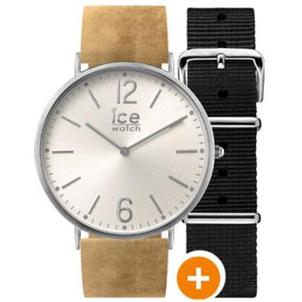 Montre Ice Watch Ice City CHL.B.BEL.36.N.15 - Montre Cuir Marron Clair Mixte