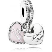 Charms Pandora Meilleures Amies 791950CZ - Famille et Amis