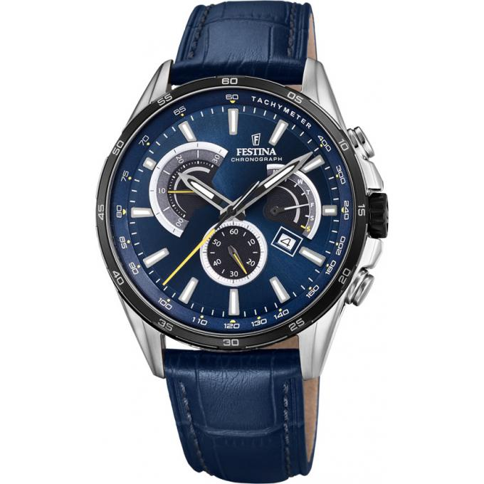 montre festina f20201 3 montre chronographe bleue homme sur bijourama montre homme pas cher. Black Bedroom Furniture Sets. Home Design Ideas