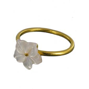 Bague Fleur blanche wild - Corpus Christi