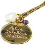 Collier ou Sautoir Mon Rond Doré - Les bijoux de Pauline et Victoria