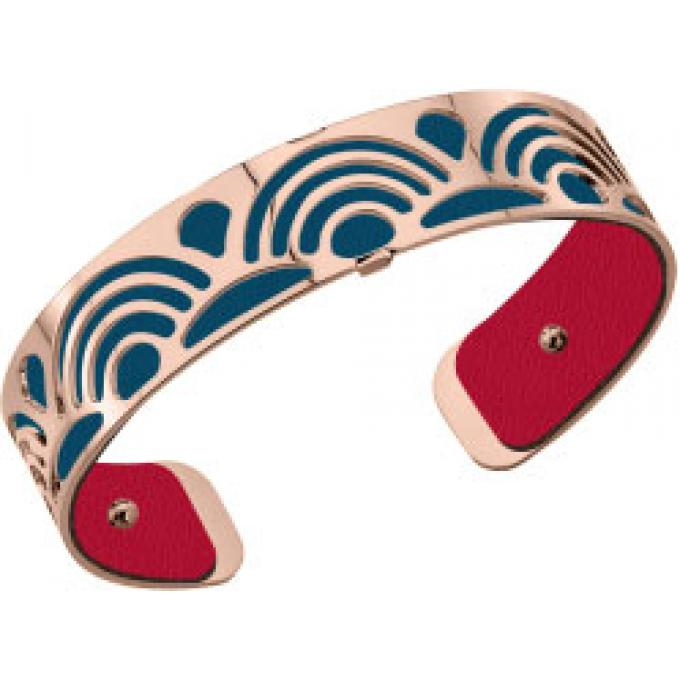 Ensembe Bracelet Small Poisson Et Cuir Bleu Petrole FramboiseLes Georgettes  , Bracelet Manchette Or Rose Taille