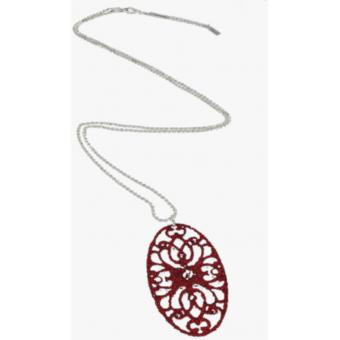 Collier Night Fever Ovale Rouge