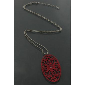 Collier Night Fever Ovale Rouge  - Satellite