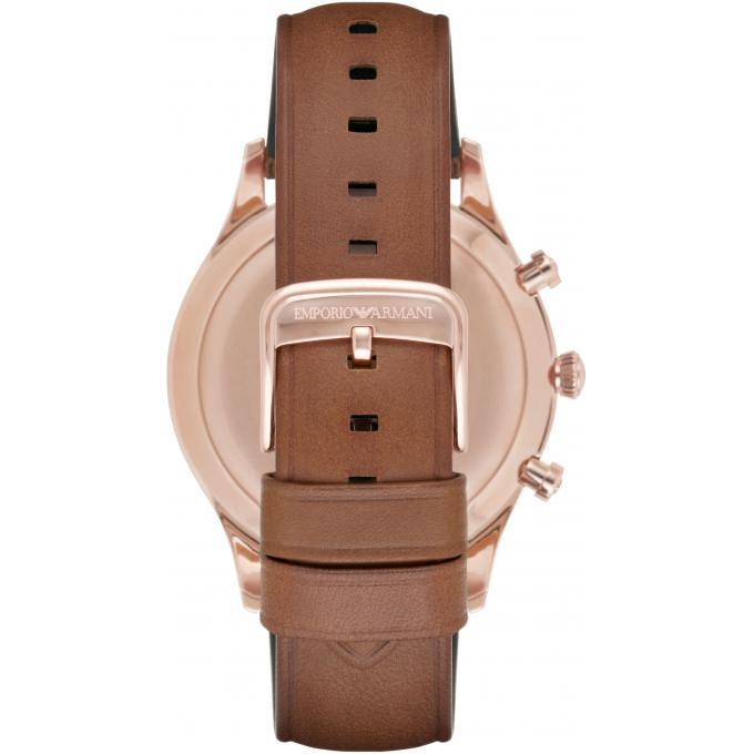 Montre armani ar11043 montre chronographe cuir marron - Montre emporio armani homme pas cher ...