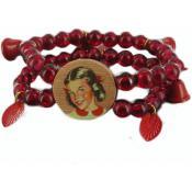 Bracelet N2  PIE202 rouge