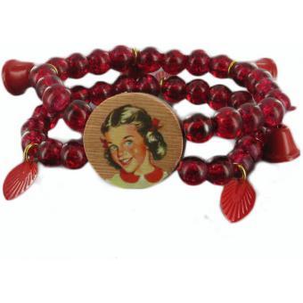 Bracelet rouge Heidi - N2