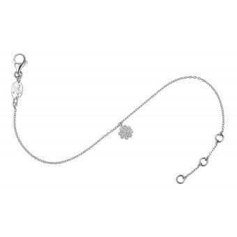 Bracelet Charm Trèfle Or Blanc  - Vanessa Tugendhaft