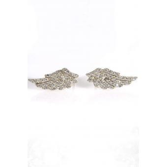 Boucles d'oreilles Aile d'ange Or blanc - Corpus Christi