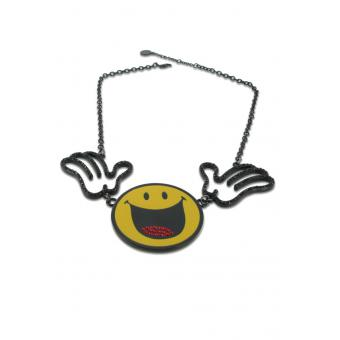 collier smiley world deux mains - N2