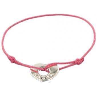 Bracelet Cordon Coeur Amour - Marie-Laure T