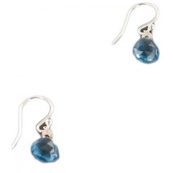 Boucles d'oreilles ELLIPSE bleues - Perle de Lune