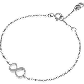 Bracelet Gold Number 8 or blanc - Second Effect