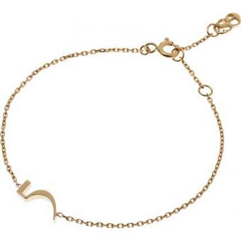 Bracelet Gold Number 5 or - Second Effect