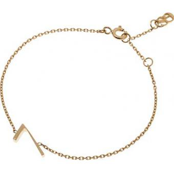 Bracelet Gold Number 7 or - Second Effect