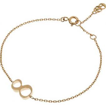 Bracelet Gold Number 8 or - Second Effect