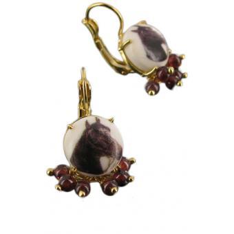 Boucles d'oreilles chevaux et perles Délicieusement décalé - Les Néréides