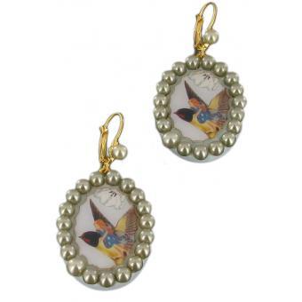 Boucles d'oreilles perles Tout conte fait Poucette rousse - N2