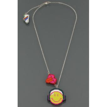 Collier Smiley Pixel heart - N2