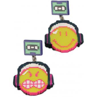 Boucles d'oreilles Smiley Pixel  - N2