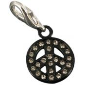 Charms peace & love noir strass - Philae
