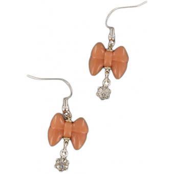 Boucles d'oreilles noeud rose - Les Bijoux De Sophie
