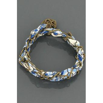 Bracelet Cocktail bronze bleu - Paul & Joe