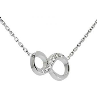 Collier Shiny Number 8 or blanc diamants - Second Effect