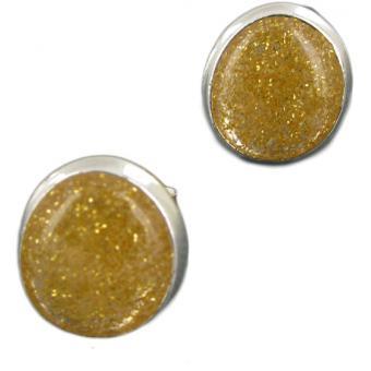 Boucles d'oreilles GALET Paillettes dorées - Skalli