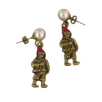 Boucles d'oreilles Poucet doré LE PETIT POUCET - N2