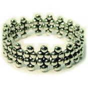 Bracelet Ubu multi perles Argenté