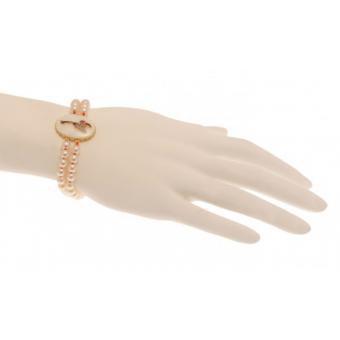 Bracelet Double Rang Perles Blanches - N2