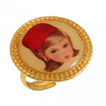 Bague Poupée Chapeau Rouge - N2