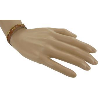 Bracelet Cuir & Pampilles Dorées - Un jour mon prince