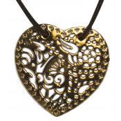 Collier et pendentif Brin D'Amour  COC066LDO - Coeur