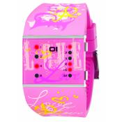 The One - Montre The One Slim Square Lady SLSL138R3 - Montre Femme - Affichage Binaire