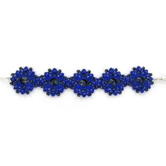 Bracelet Satellite Blue Devil Fleurs - Satellite