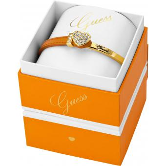 Bracelet Strass & Cuir Orange - GUESS - Guess
