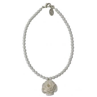 Collier Perles Fleur Blanche - Les Bijoux de Sophie - Les Bijoux De Sophie