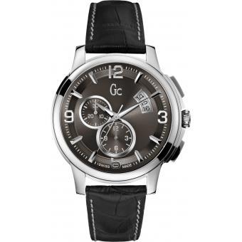 Montre GC Dateur & Chronographe Cuir Noir GC Classica X83004G5S - Homme