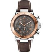 Montre GC Chronographe & Dateur Cuir Marron GC-1 Class X90005G2S - Homme