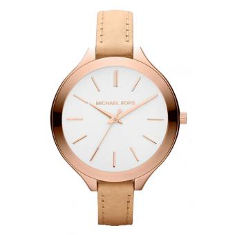 Montre Michael Kors Runway MK2284 - Montre Cuir Or Rose Femme